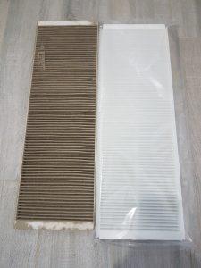 Zanieczyszczony vs czysty nowy filtr do rekuperator aeris zehnder next 350